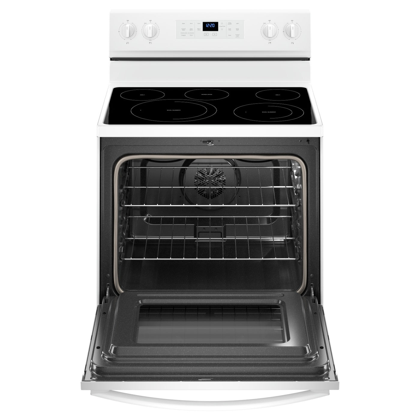 Whirlpool® 5 3 Cu  Ft  Freestanding Electric Range with Fan Convection  Cooking