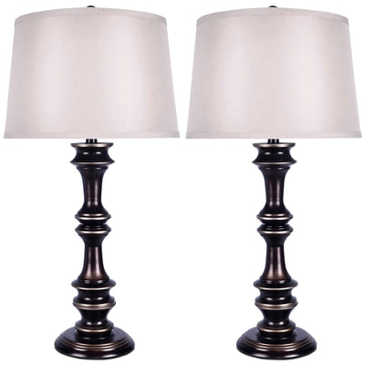 Harbour Bronze 2-Piece Table Lamp Set|Ensemble 2 lampes de table Harbour bronze|ST90674A
