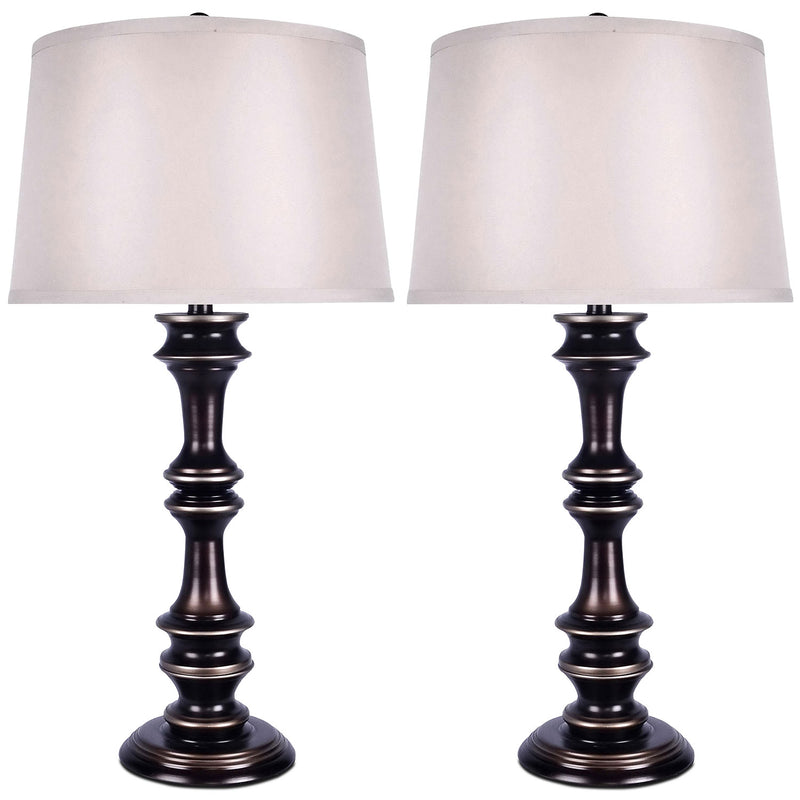 Harbour Bronze 2-Piece Table Lamp Set|Ensemble 2 lampes de table Harbour bronze