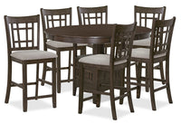 Desi 7-Piece Counter-Height Dining Package – Brown