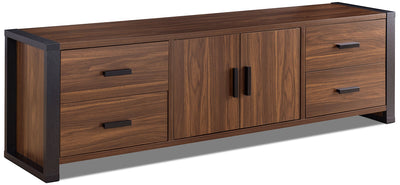 "Ashton 70"" TV Stand - Contemporary style TV Stand in Dark Brown Wood"