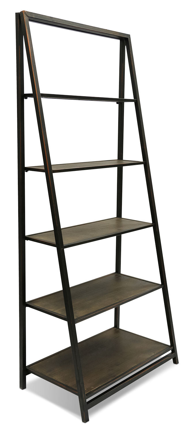 Santa Monica Tall Bookcase - Rustic style Bookcase in Espresso Wood