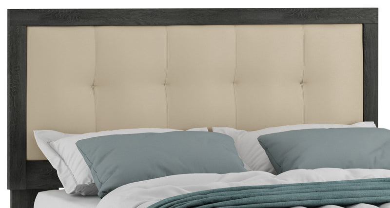 Dion King Headboard With LED Lighting The Brick - Tres grand lit design