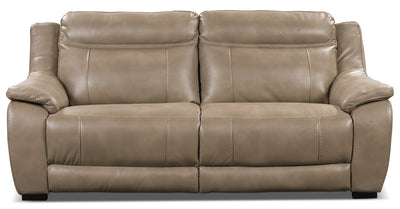 Novo Leather-Look Fabric Sofa – Taupe - Modern style Sofa in Taupe