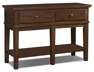 Gately Sofa Table - Rustic style Sofa Table in Dark Brown Hardwood Solids