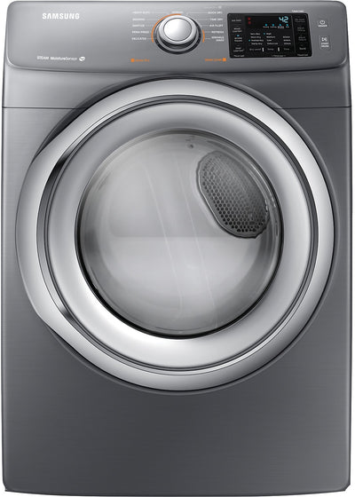 Samsung 7.5 Cu. Ft. Electric Dryer - Platinum - Dryer with Steam in Grey