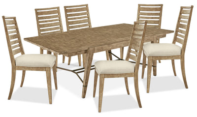 Bluff Heights 7-Piece Dining Package - Weathered Nutmeg|Ensemble de salle à manger Bluff Heights 7 pièces - muscade vieillie|BLHTCD7P