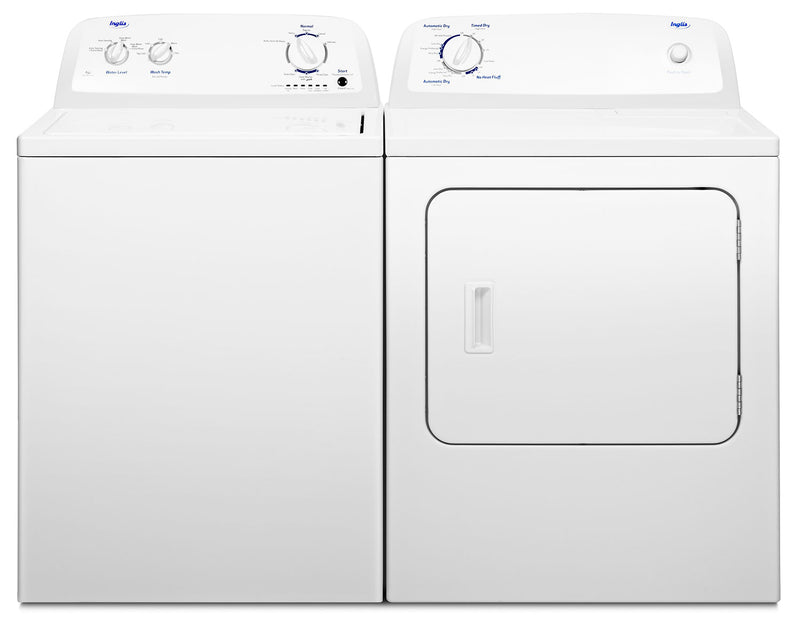 Inglis 4.0 Cu. Ft. Top-Load Washer and 6.5 Cu. Ft. Electric Dryer – White - Laundry Set in White