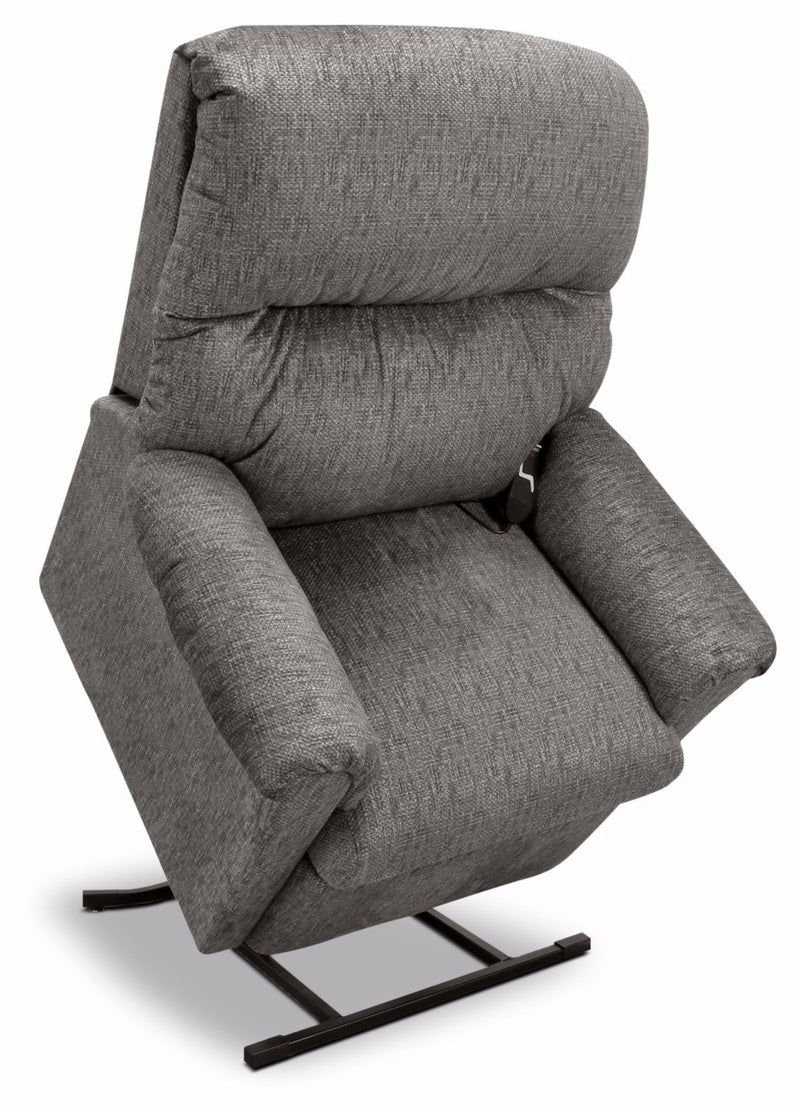 481 Textured Chenille 3-Position Power Lift Chair –Grey|Fauteuil basculeur à inclinaison électrique 481 à 3 positions en chenille - gris