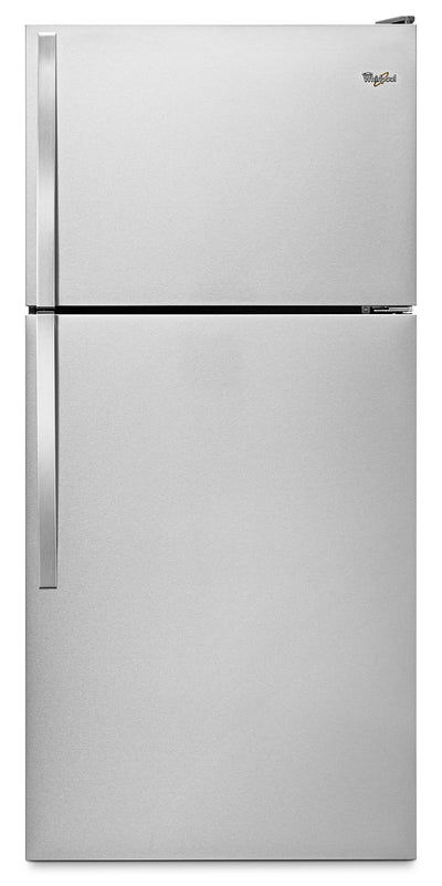 Whirlpool® 18.2 Cu. Ft. Top-Mount Refrigerator with Flexi-Slide™ Bin – Stainless Steel - Refrigerator in Stainless Steel