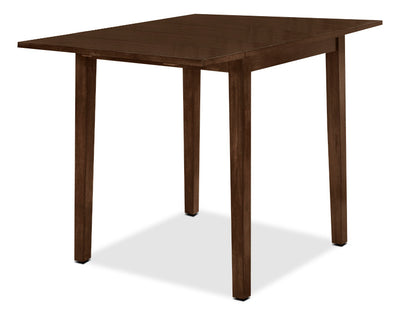 Dakota Square Drop Leaf Table - Country style Dining Table in Dark Cherry