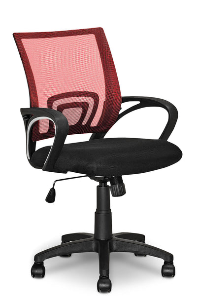 Loft Mesh Office Chair – Red - Modern style Office Chair in Light Red