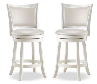 Woodgrove Counter-Height Dining Stool, Set of 2 - Contemporary style Bar Stool in White