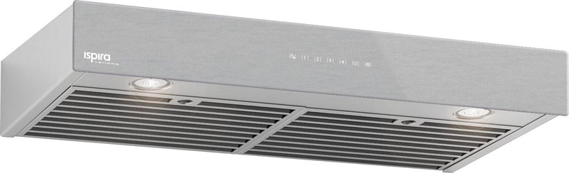 "Venmar Ispira 36"" Under-Cabinet Hood Fan – Brushed Grey IU600ES36SSBS