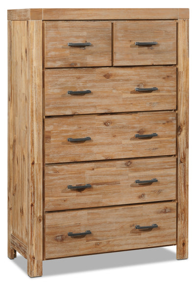 Acadia Chest - Rustic style Chest in Grey Brown Acacia Solids and Veneers