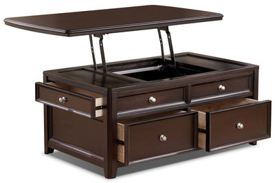 Carlyle Coffee Table with Lift Top|Table à café Carlyle avec dessus relevable|T771-20