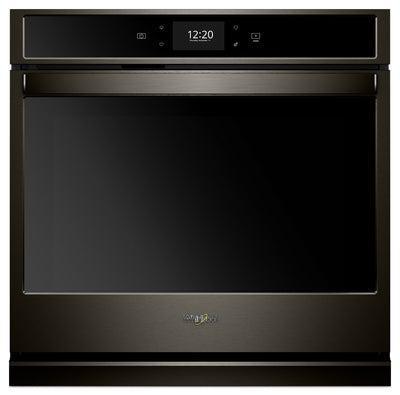 Whirlpool 5.0 Cu. Ft. Smart Single Wall Oven with True Convection Cooking - WOS72EC0HV - Electric Wall Oven in Black Stainless Steel