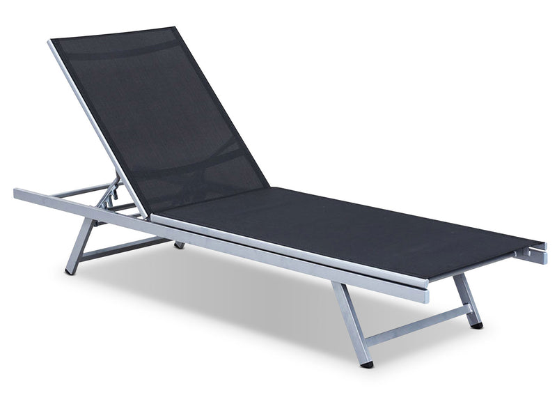 Reclining Lounger – Black|Chaise longue inclinable - noire