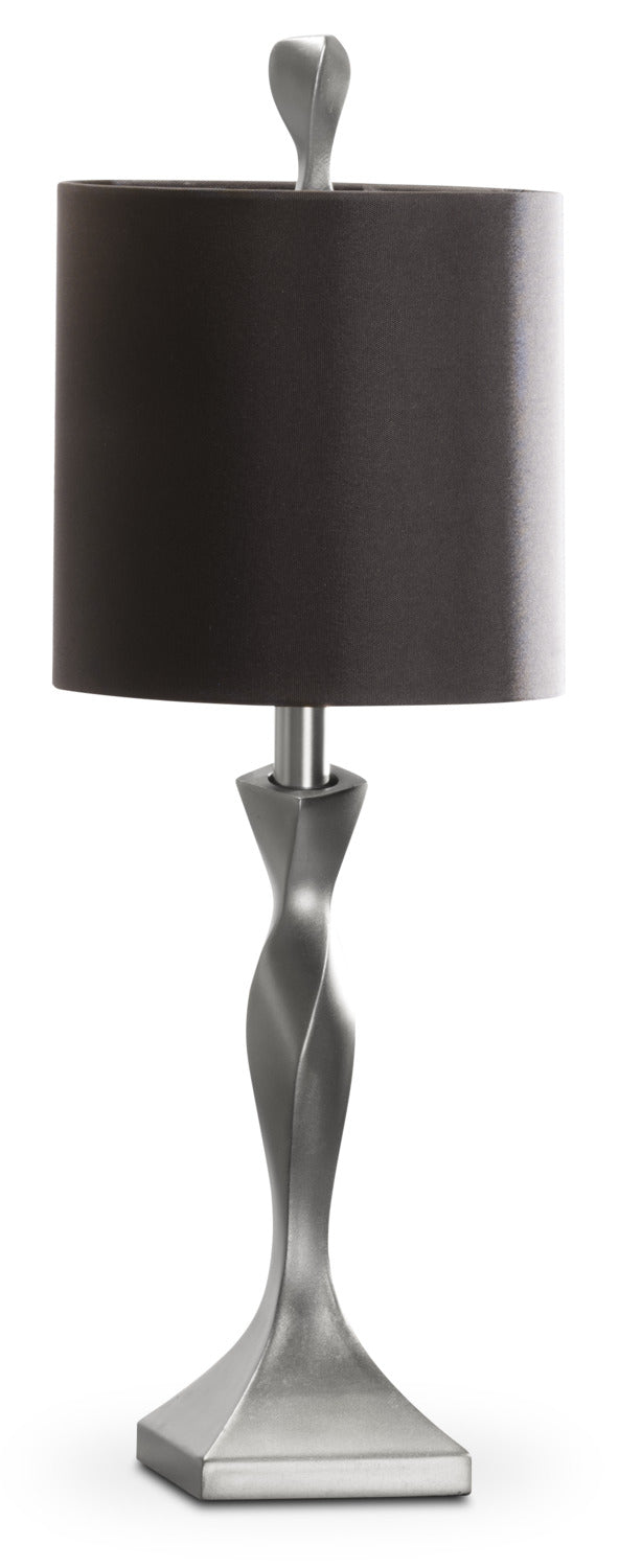 Painted Champagne Silver Table Lamp|Lampe de table peinte champagne argenté