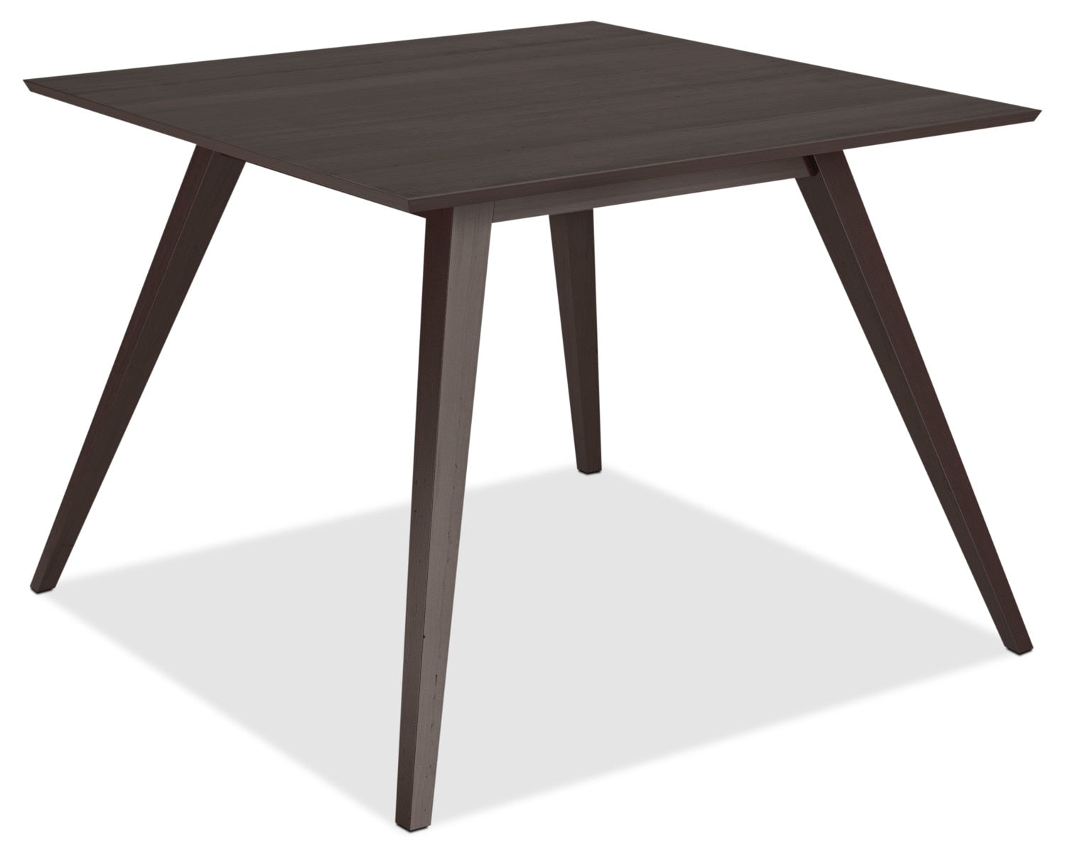 Atwood square dining tabletable de salle à manger atwood cappuccino avec pattes obliques 42 po