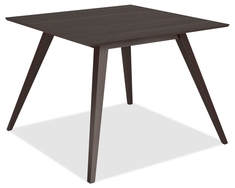 Atwood Square Dining Table|Table de salle à manger Atwood cappuccino avec pattes obliques - 42 po