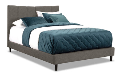 Paseo Queen Platform Bed – Grey|Grand lit plateforme Paseo - gris|PAS2GQBD