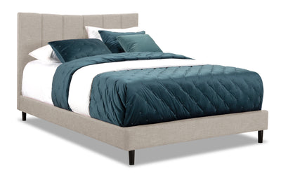 Paseo Queen Platform Bed – Taupe|Grand lit plateforme Paseo - taupe|PAS2TQBD