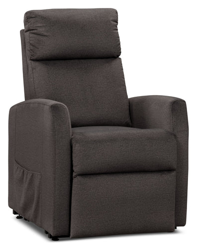 Lanny LiveSmart Fabric Power Lift Recliner – Pewter - Contemporary style Chair in Pewter