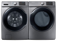 Samsung 5.2 Cu. Ft. Front-Load Steam Washer and 7.5 Cu.Ft. Multi-Steam™ Electric Dryer