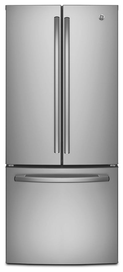 GE 20.8 Cu. Ft. French-Door Refrigerator – GNE21DSKSS - Refrigerator in Stainless Steel