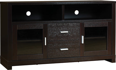 "Kensington 47"" TV Stand - Contemporary style TV Stand in Espresso Wood"