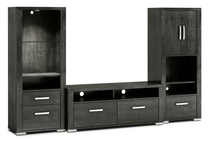 "Allendale 3-Piece Entertainment Centre with 56"" TV Opening, Open and Closed Piers – Anthracite"