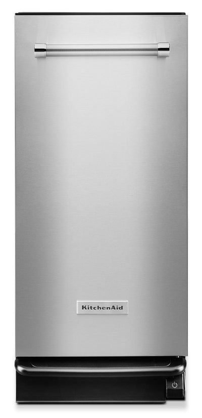 KitchenAid 1.4 Cu. Ft. Built-In Trash Compactor - Stainless Steel|Compacteur de déchets encastré KitchenAid de 1,4 pi3 – acier inoxydable|KTTS505S