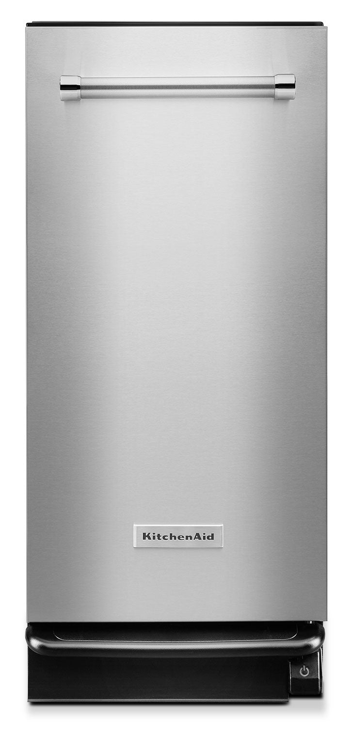 KitchenAid 1.4 Cu. Ft. Built-In Trash Compactor - Stainless Steel|Compacteur de déchets encastré KitchenAid de 1,4 pi3 – acier inoxydable