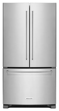 KitchenAid 20 Cu. Ft. French Door Refrigerator with Interior Dispenser - Stainless Steel
