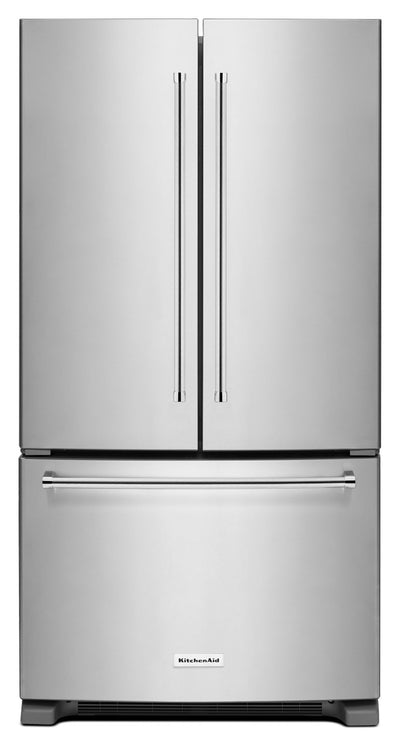 KitchenAid 20 Cu. Ft. French Door Refrigerator with Interior Dispenser - Stainless Steel - Refrigerator in Stainless Steel