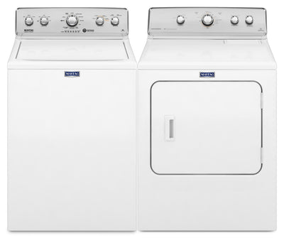 Maytag 4.9 Cu. Ft. Top-Load Washer and Centennial® 7.0 Cu. Ft. Electric Dryer – White