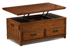 cross island coffee table with lift top and casterstable caf cross island avec - Dark Wooden Side Tables