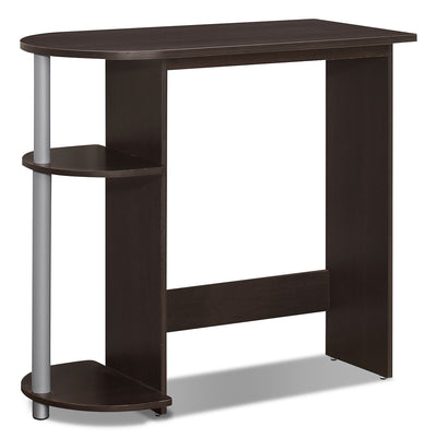 Dexter Desk – Cappuccino - Modern style Desk in Dark Brown Wood