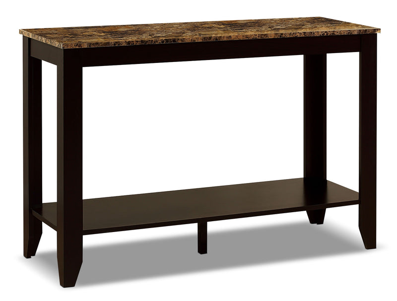 Roma Sofa Table - Contemporary style Sofa Table in Dark Brown Wood