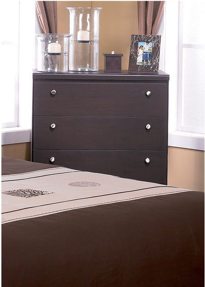 Dark Saddle Birch Chest|Commode verticale bouleau foncé|201-354