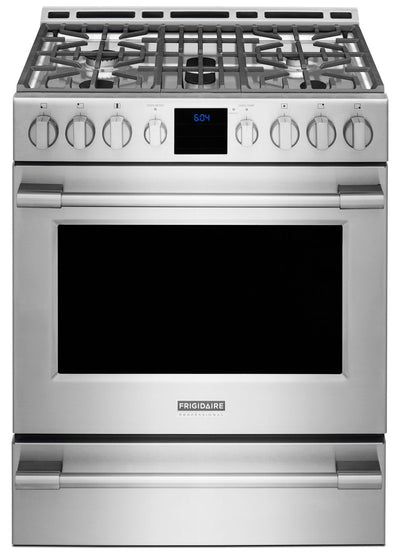 Frigidaire Professional® 30'' Front-Control Freestanding Gas Range - Stainless Steel - Gas Range in Stainless Steel