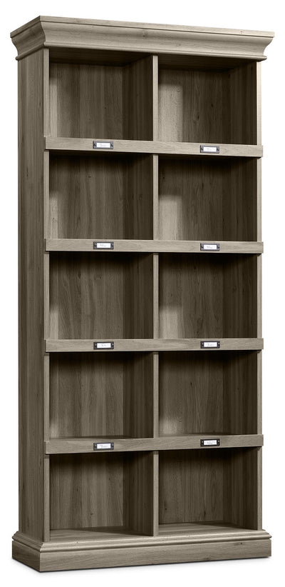 Barrister Lane Tall Bookcase – Salt Oak - Country style Bookcase in Grey