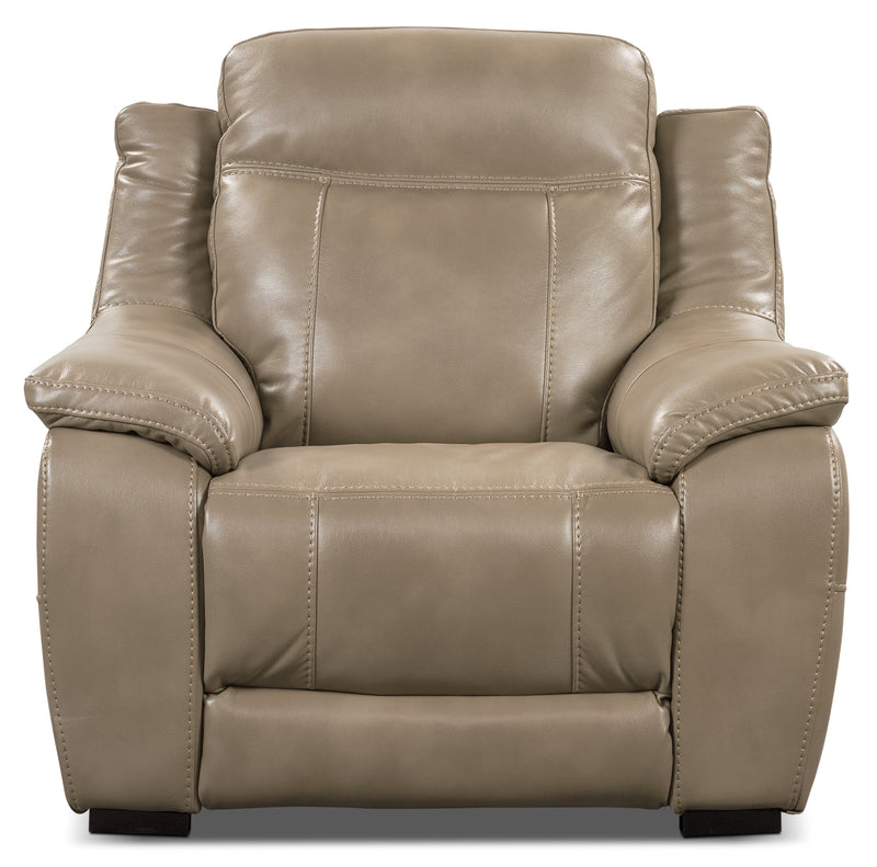 Novo Leather Look Fabric Chair Taupe The Brick