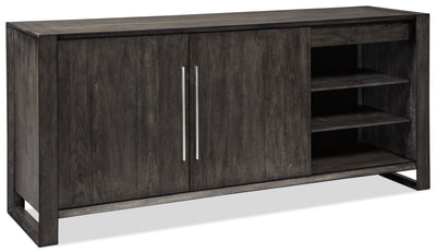 Chadoni Server - Rustic style Server in Grey Brown Hardwood Solids and Veneers