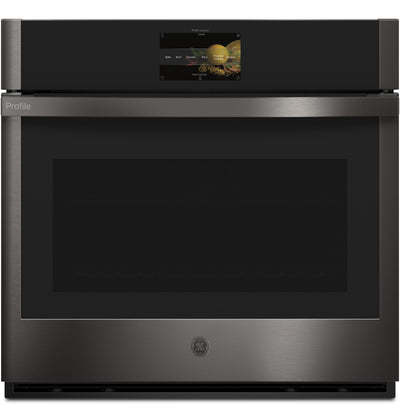 "GE Profile 30"" 5.0 Cu. Ft. Smart Single Wall Oven with In-Oven Camera - PTS9000BNTS 