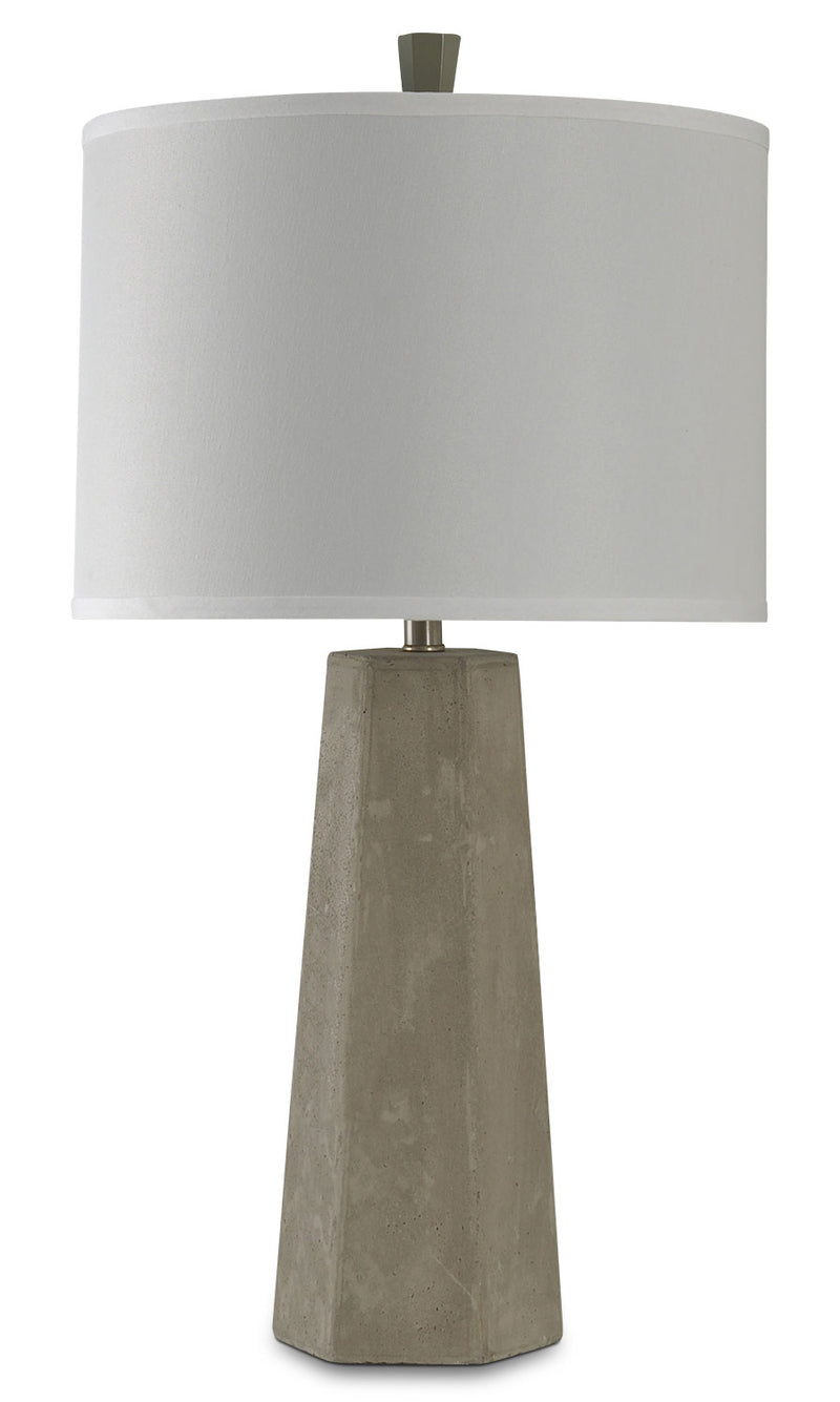 Cement Table Lamp|Lampe de table Cement