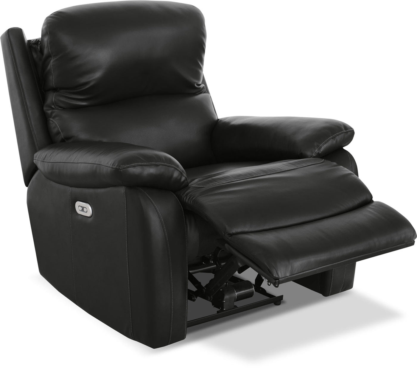Grove Genuine Leather Power Reclining Chair With Adjustable Headres