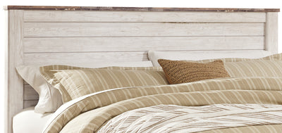Willowton King Headboard - Country style Headboard in White Engineered Wood and Laminate Veneers