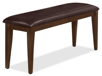 Dakota Bench - Contemporary style Dining Bench in Dark Cherry